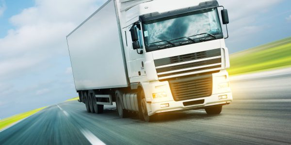 Transport von Ware eines Logistikunternehmen
