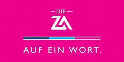 Logo der ZA mit Slogan