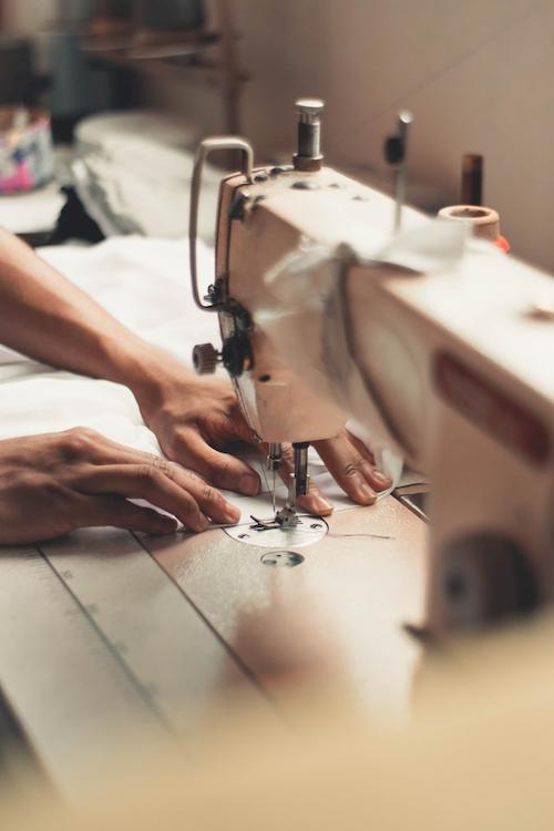 Textilproduzent Nähmaschine