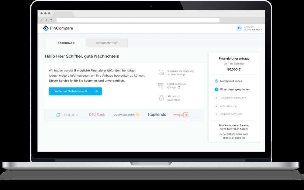 Angebotsvergleich FinCompare-Portal
