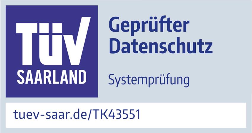 TÜV Saarland Datenschutz FinCompare Prüfzeichen